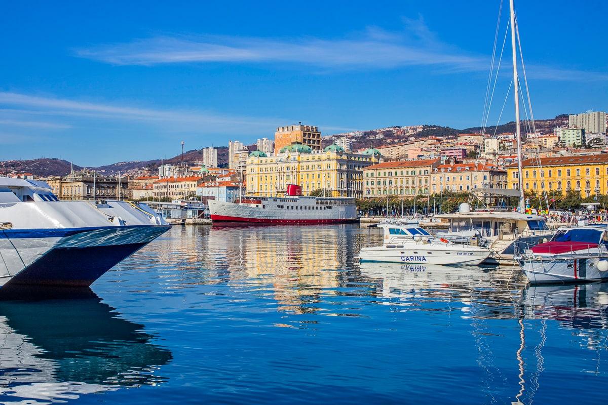 Rijeka Kroatien Adria Meer Boote