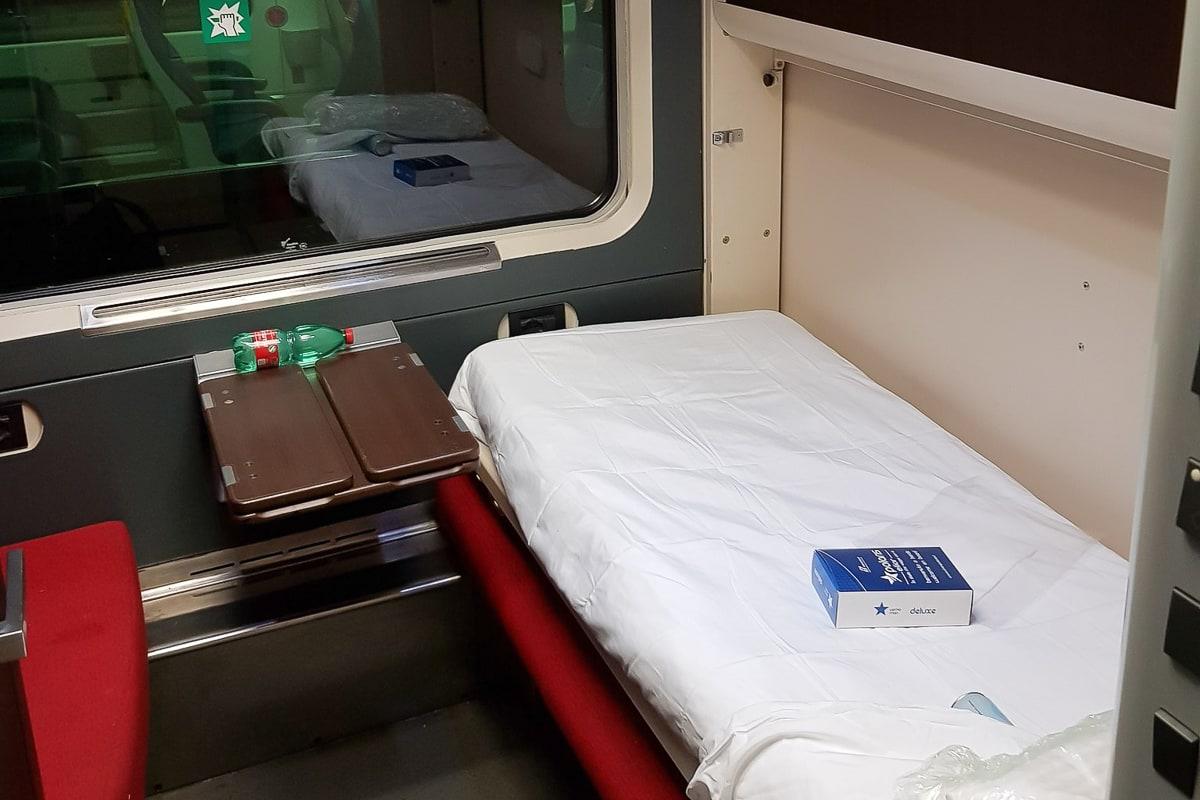 Intercity Notte Nachtzug Italien Schlafwagen Excelsior Abteil Bett