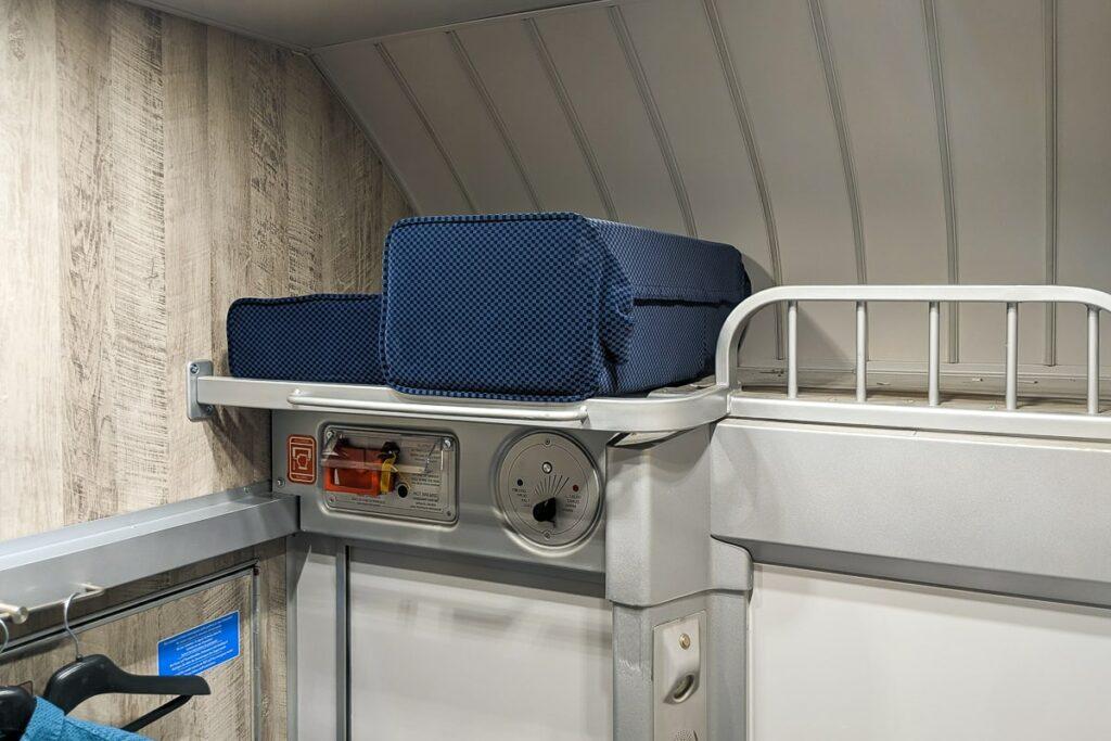Intercity Notte Nachtzug Italien Schlafwagen Gepäckablage