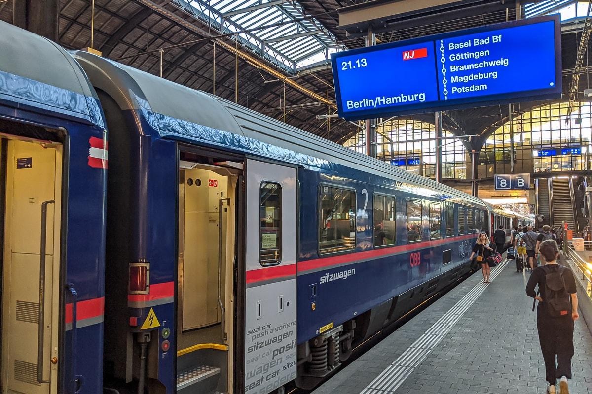 Neue Nightjet Nachtzüge in der Schweiz