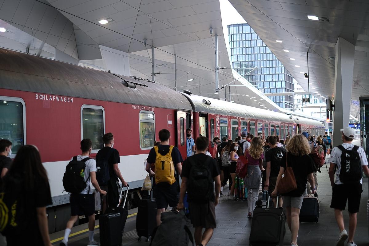 Sommer Nachtzug EuroNight Bratislava Wien Split