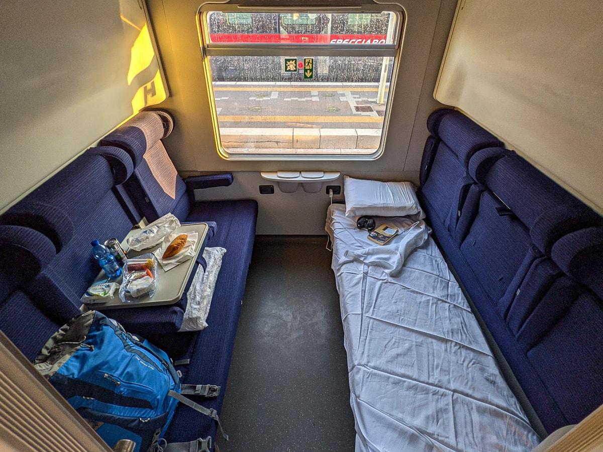 Liegewagen Nachtzug Italien Abteil