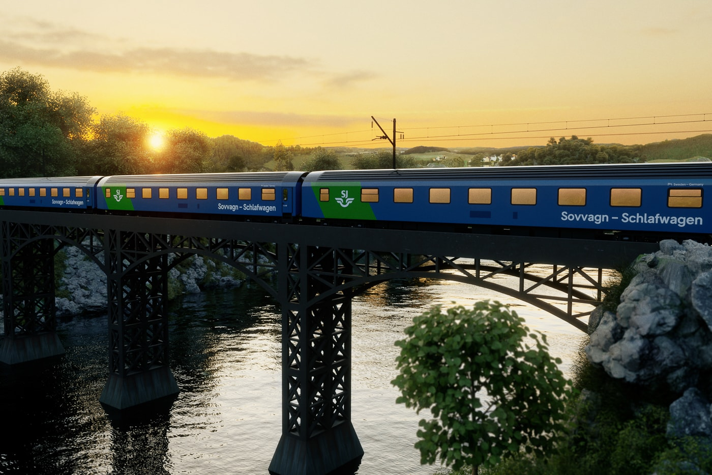 Nachtzug von Hamburg nach Stockholm